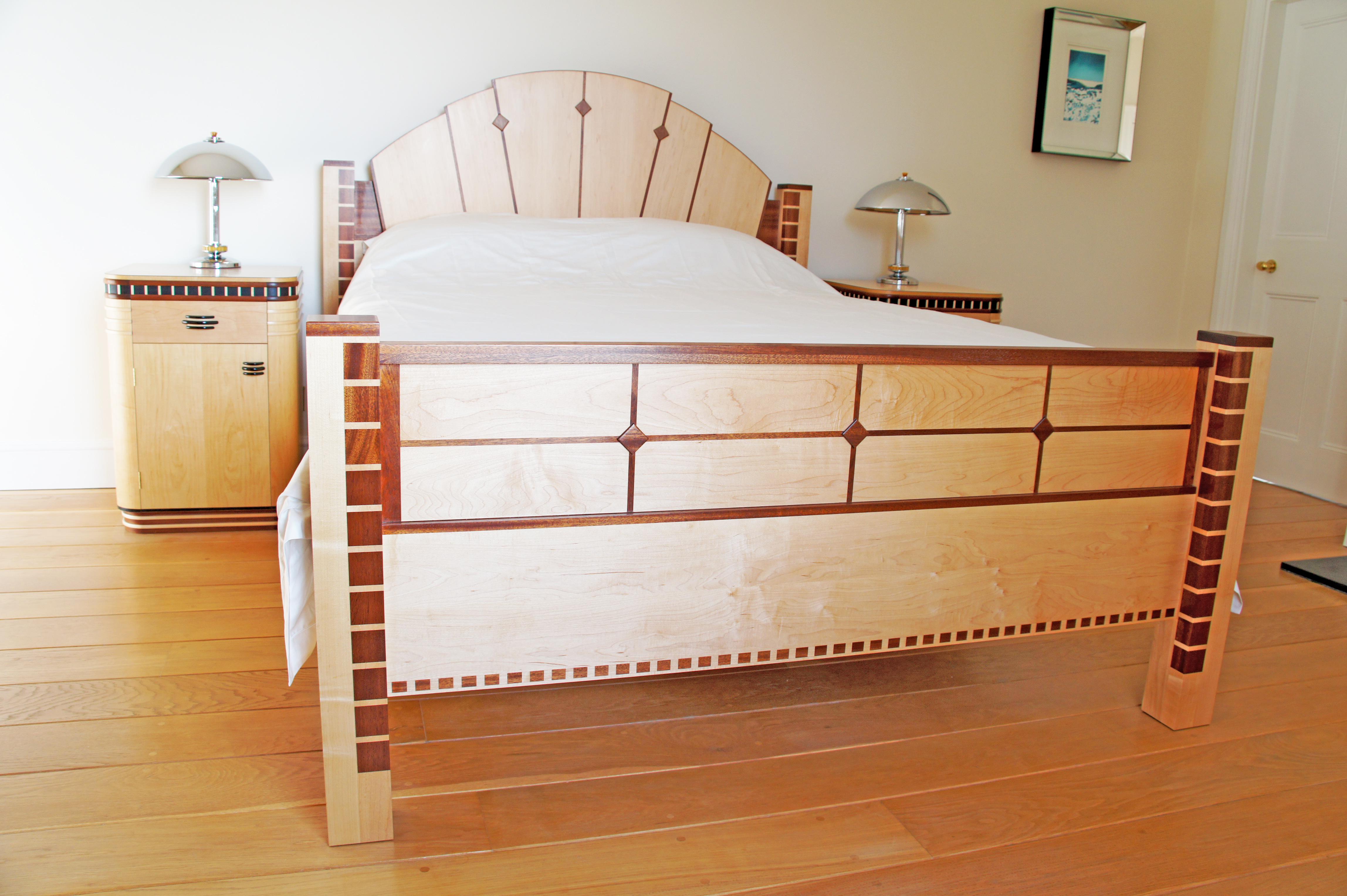 Art deco king size bed - Deco volwassen bed ...
