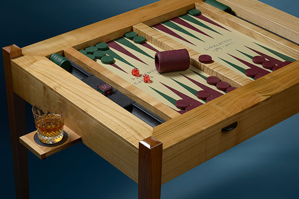 Hand made bespoke backgammon table