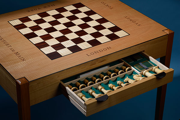 Hand made bespoke chess table
